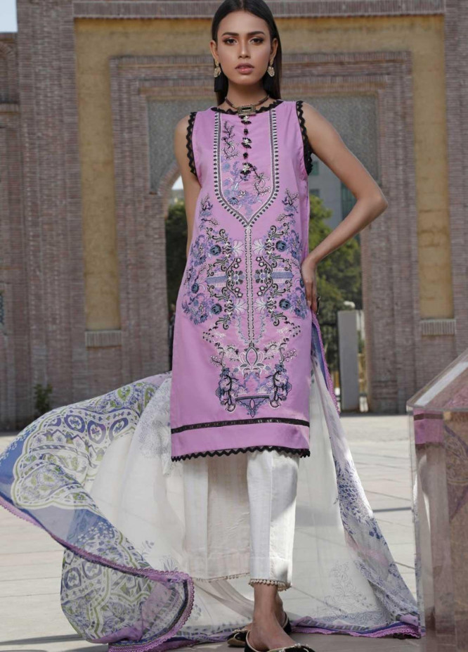 Ittehad Textiles Embroidered Lawn Suits Unstitched 3 Piece IT21EL ITE-BIRCA - Summer Collection