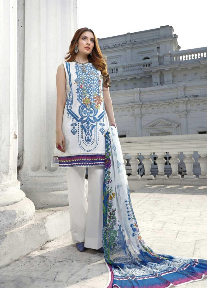 Ittehad Textiles Embroidered Lawn Suits Unstitched 3 Piece IT21EL ITE-BLANCO - Summer Collection