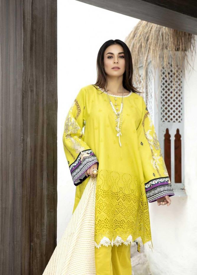 Ittehad Textiles Embroidered Lawn Suits Unstitched 3 Piece IT21EL ITE-BRILLANTE - Summer Collection