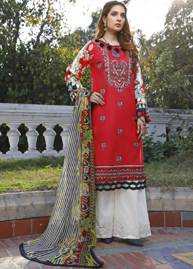 Ittehad Textiles Embroidered Lawn Suits Unstitched 3 Piece IT21EL ITE-CACHEMIR - Summer Collection