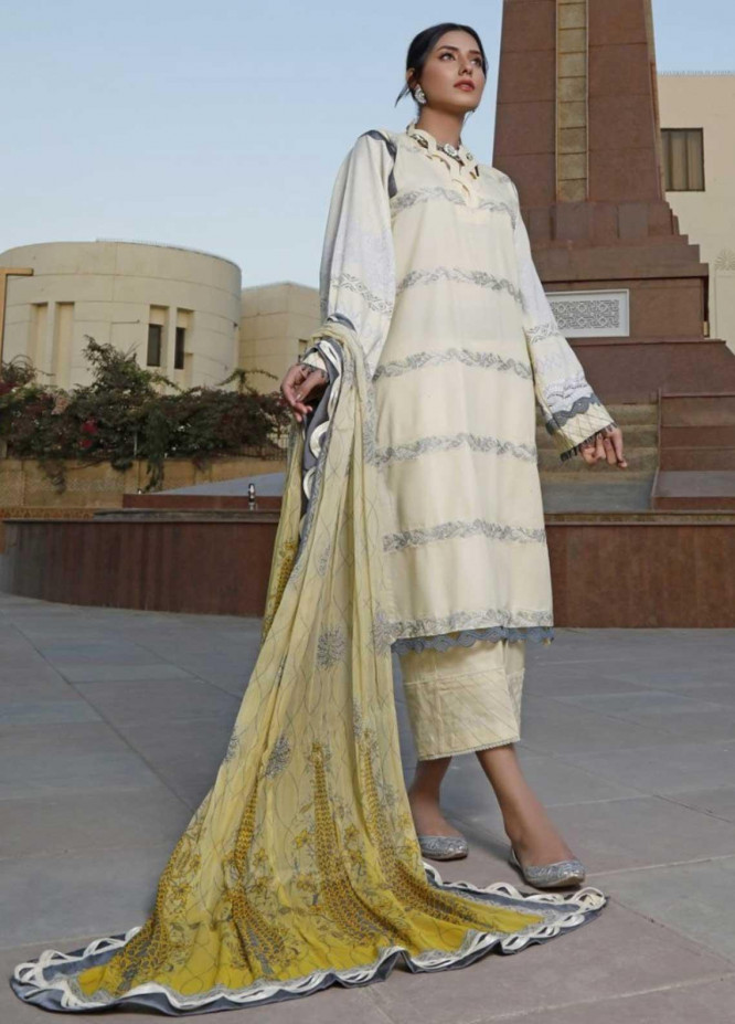 Ittehad Textiles Embroidered Lawn Suits Unstitched 3 Piece IT21EL ITE-CALINA - Summer Collection