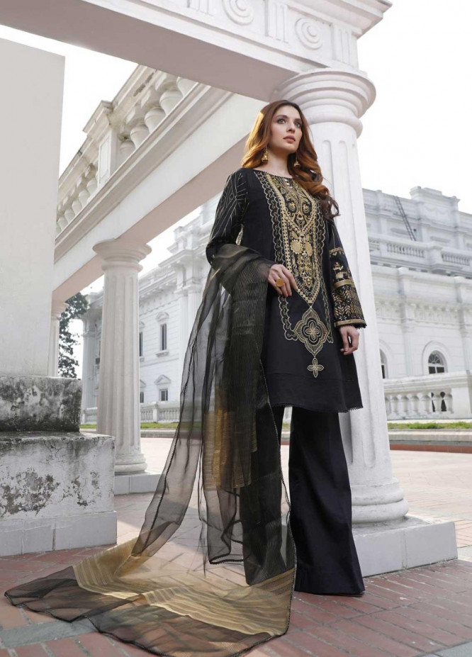 Ittehad Textiles Embroidered Lawn Suits Unstitched 3 Piece IT21EL ITE-CENIZA - Summer Collection