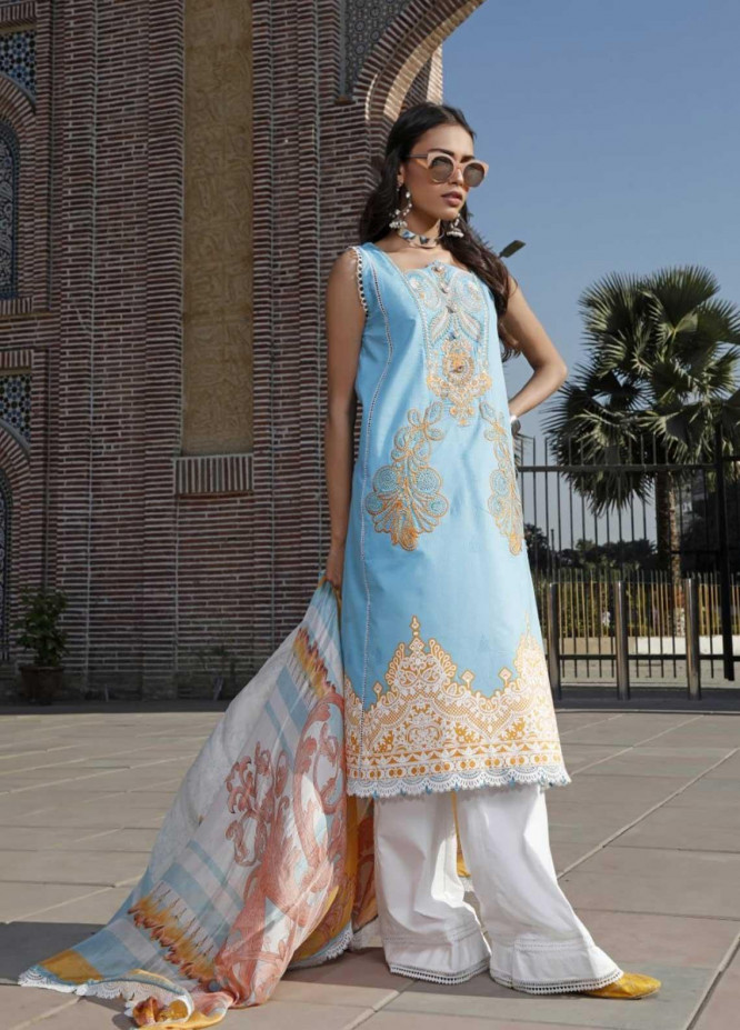 Ittehad Textiles Embroidered Lawn Suits Unstitched 3 Piece IT21EL ITE-DESTELLO - Summer Collection