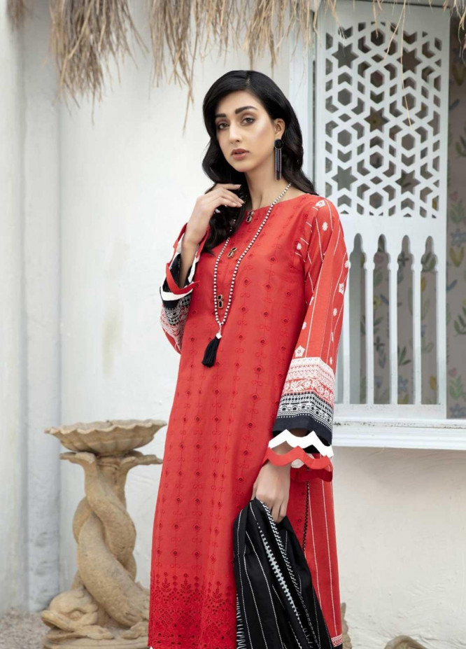 Ittehad Textiles Embroidered Lawn Suits Unstitched 3 Piece IT21EL ITE-DULCE - Summer Collection