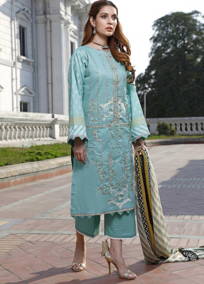 Ittehad Textiles Embroidered Lawn Suits Unstitched 3 Piece IT21EL ITE-EL MAR - Summer Collection