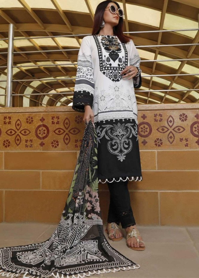 Ittehad Textiles Embroidered Lawn Suits Unstitched 3 Piece IT21EL ITE-ESTRELLA - Summer Collection