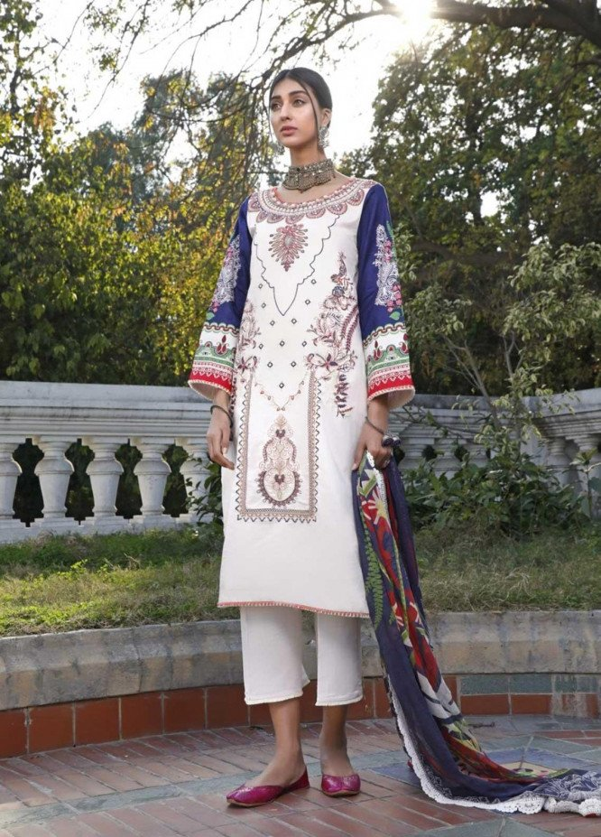 Ittehad Textiles Embroidered Lawn Suits Unstitched 3 Piece IT21EL ITE-FLORECER - Summer Collection