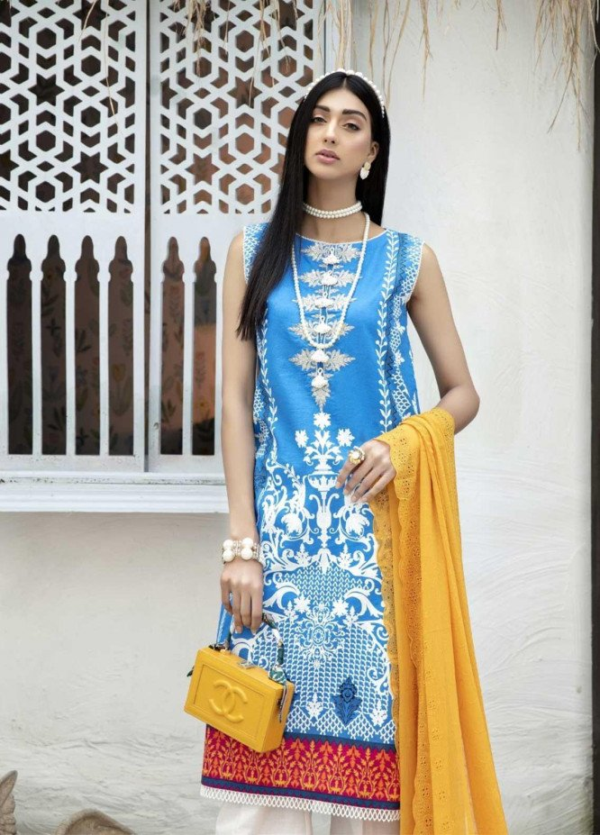 Ittehad Textiles Embroidered Lawn Suits Unstitched 3 Piece IT21EL ITE-FRUCTIFERA - Summer Collection