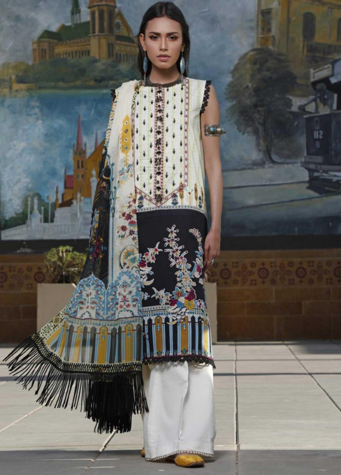 Ittehad Textiles Embroidered Lawn Suits Unstitched 3 Piece IT21EL ITE-FUMAR - Summer Collection