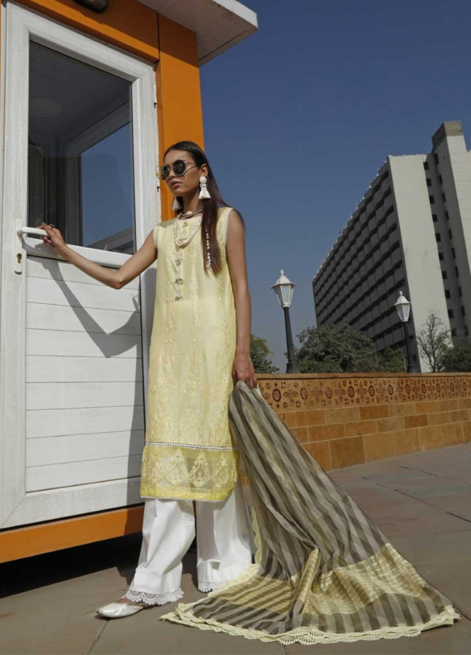 Ittehad Textiles Embroidered Lawn Suits Unstitched 3 Piece IT21EL ITE-GIRASOL - Summer Collection