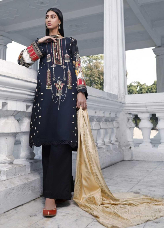 Ittehad Textiles Embroidered Lawn Suits Unstitched 3 Piece IT21EL ITE-JOYERIA - Summer Collection