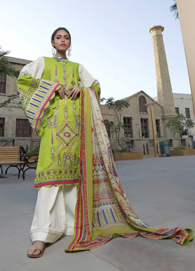 Ittehad Textiles Embroidered Lawn Suits Unstitched 3 Piece IT21EL ITE-LIMA - Summer Collection