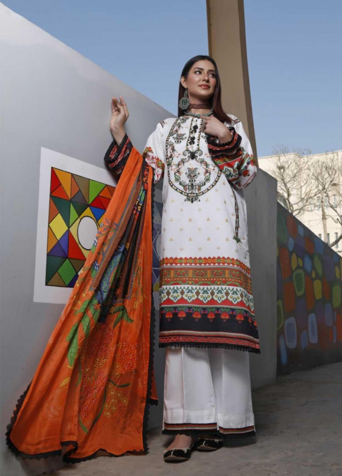 Ittehad Textiles Embroidered Lawn Suits Unstitched 3 Piece IT21EL ITE-MILAGRO - Summer Collection