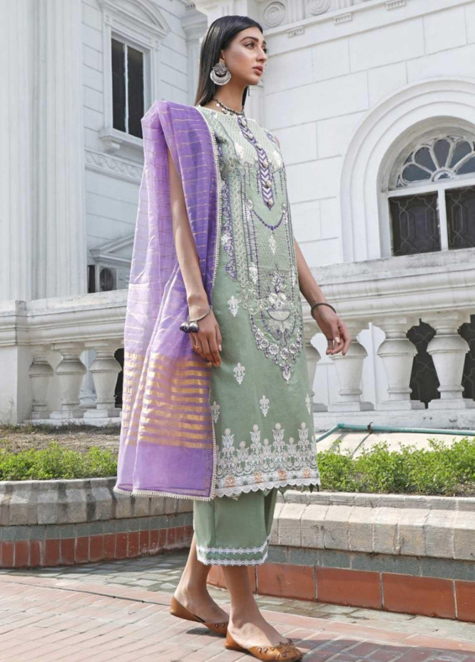 Ittehad Textiles Embroidered Lawn Suits Unstitched 3 Piece IT21EL ITE-MORADA - Summer Collection
