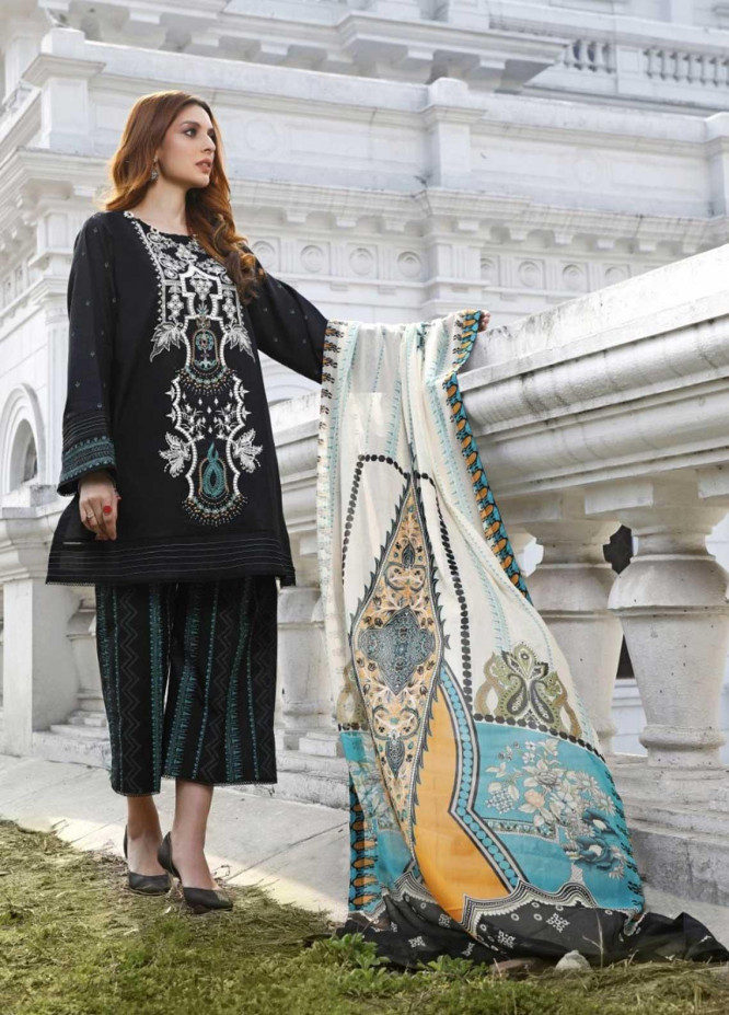 Ittehad Textiles Embroidered Lawn Suits Unstitched 3 Piece IT21EL ITE-NOCHE - Summer Collection