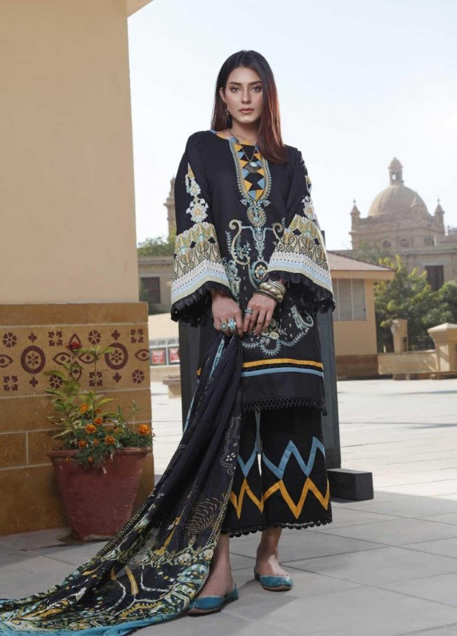 Ittehad Textiles Embroidered Lawn Suits Unstitched 3 Piece IT21EL ITE-OSCURO - Summer Collection