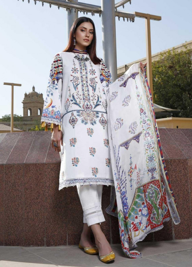 Ittehad Textiles Embroidered Lawn Suits Unstitched 3 Piece IT21EL ITE-RESPLANDOR - Summer Collection
