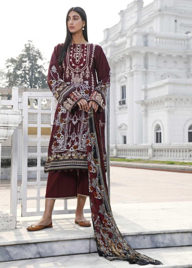 Ittehad Textiles Embroidered Lawn Suits Unstitched 3 Piece IT21EL ITE-ROKA - Summer Collection