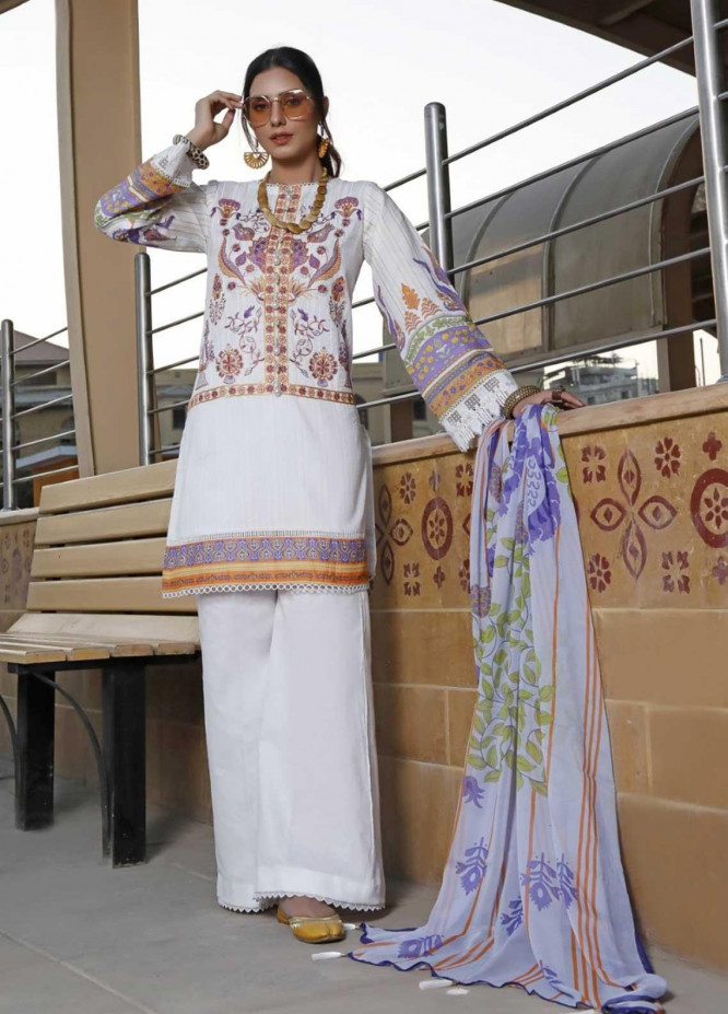Ittehad Textiles Embroidered Lawn Suits Unstitched 3 Piece IT21EL ITE-SINFONIA - Summer Collection