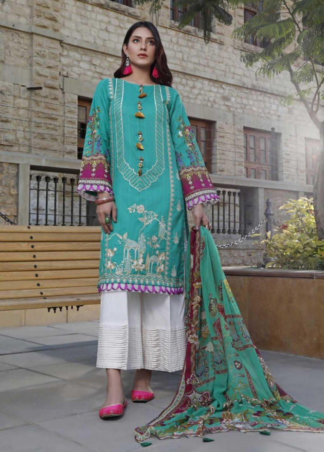Ittehad Textiles Embroidered Lawn Suits Unstitched 3 Piece IT21EL ITE-VERDE - Summer Collection