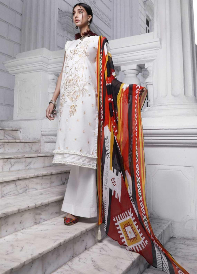 Ittehad Textiles Embroidered Lawn Suits Unstitched 3 Piece IT21EL ITE-VISTOSA - Summer Collection