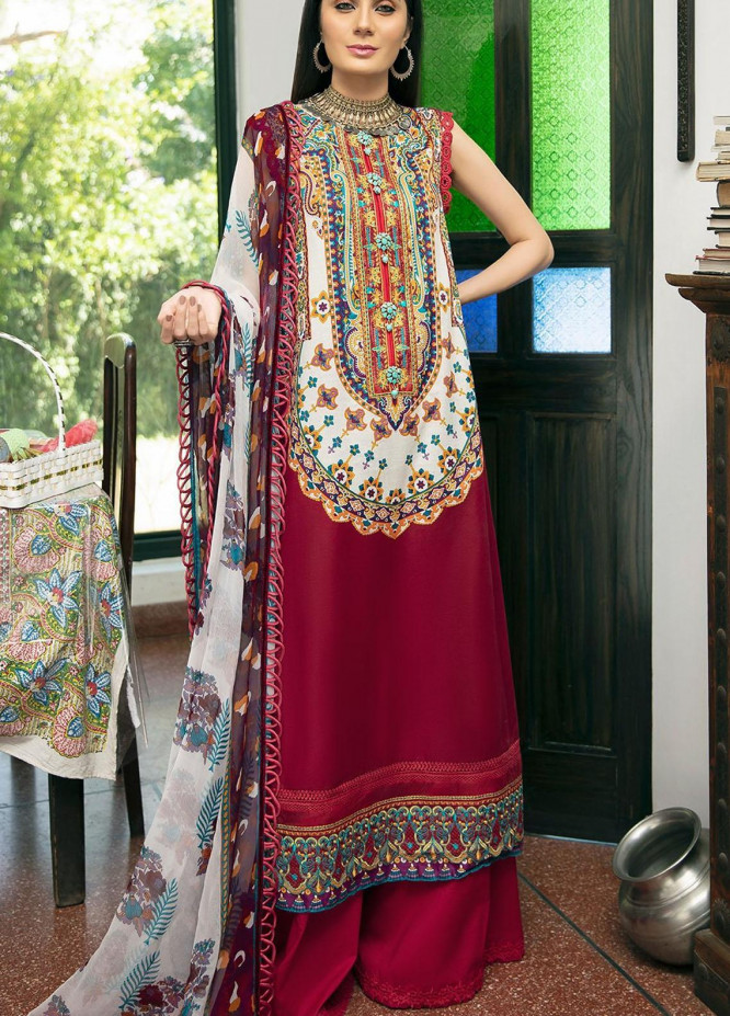 Ittehad Textiles Embroidered Lawn Suits Unstitched 3 Piece ITD21SS PELOUSE - Spring / Summer Collection