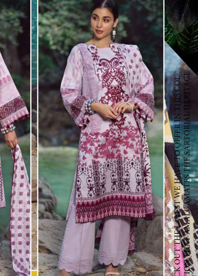 Ittehad Textiles Embroidered Lawn Unstitched 3 Piece Suit ITE20SL VIOLET HUES - Summer Collection