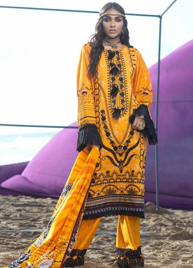 Ittehad Textiles Embroidered Viscose Unstitched 3 Piece Suit ITD20FW 01 MOROCCAN HAZE - Winter Collection