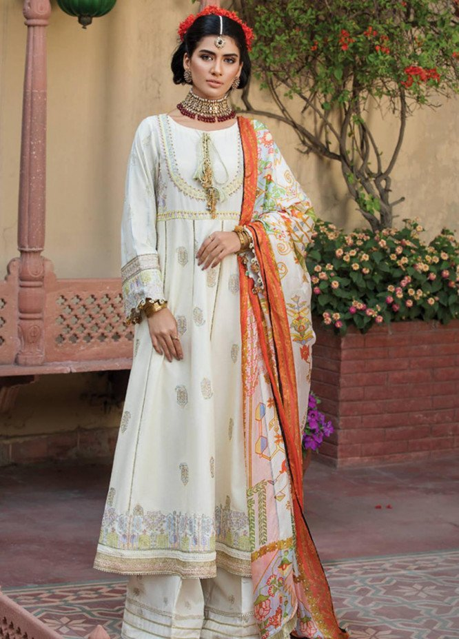 Ittehad Textiles Embroidered Lawn Unstitched 3 Piece Suit ITD20F 11 Elmas - Spring / Summer Collection