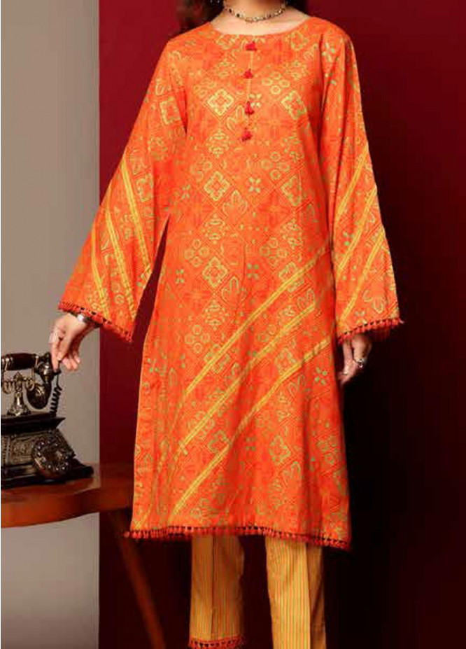 Heena By Ittehad Textiles Printed Cotton Suits Unstitched 2 Piece ITD21HC 015A - Fall Collection