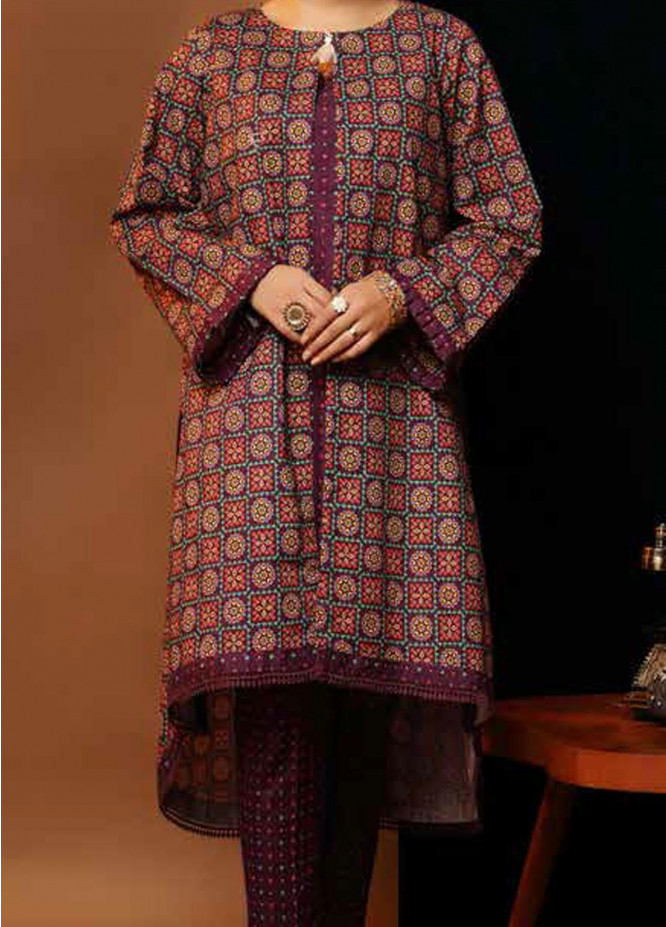 Heena By Ittehad Textiles Printed Cotton Suits Unstitched 2 Piece ITD21HC 017B - Fall Collection