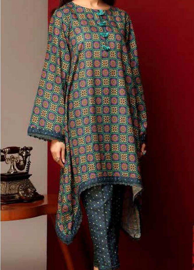 Heena By Ittehad Textiles Printed Cotton Suits Unstitched 2 Piece ITD21HC 017C - Fall Collection