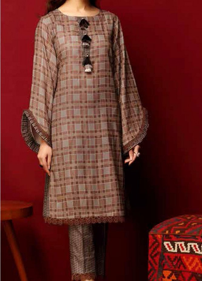 Heena By Ittehad Textiles Printed Cotton Suits Unstitched 2 Piece ITD21HC 021A - Fall Collection