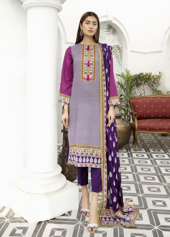 Jhalak by Ittehad Textiles Printed Lawn Suits Unstitched 3 Piece ITD21J 21201A - Summer Collection