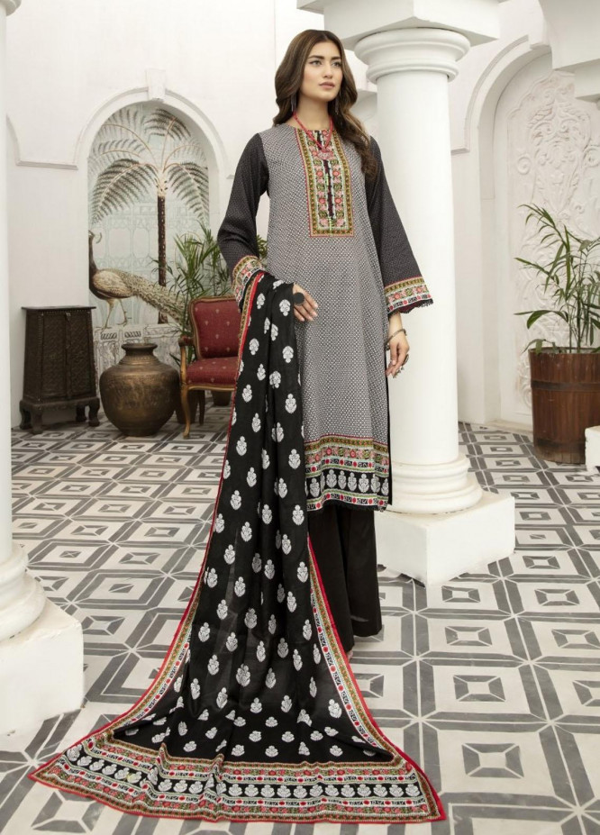 Jhalak by Ittehad Textiles Printed Lawn Suits Unstitched 3 Piece ITD21J 21201B - Summer Collection