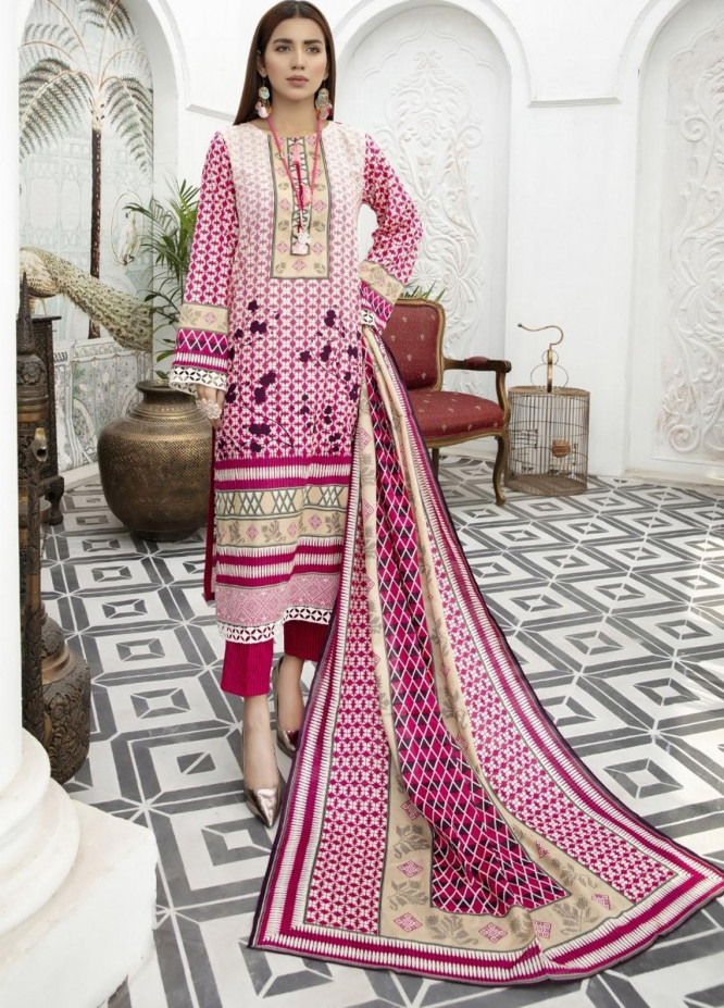 Jhalak by Ittehad Textiles Printed Lawn Suits Unstitched 3 Piece ITD21J 21203A - Summer Collection