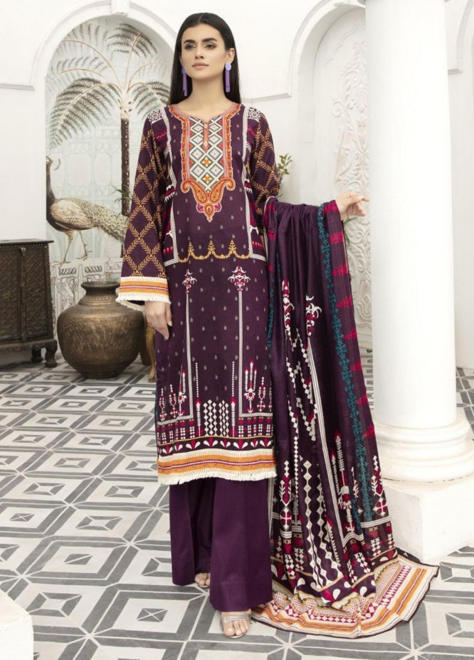 Jhalak by Ittehad Textiles Printed Lawn Suits Unstitched 3 Piece ITD21J 21205A - Summer Collection