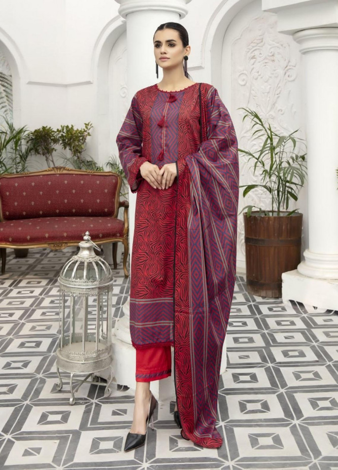 Jhalak By Ittehad Textiles Printed Lawn Suits Unstitched 3 Piece ITD21JL 21227A - Summer Collection