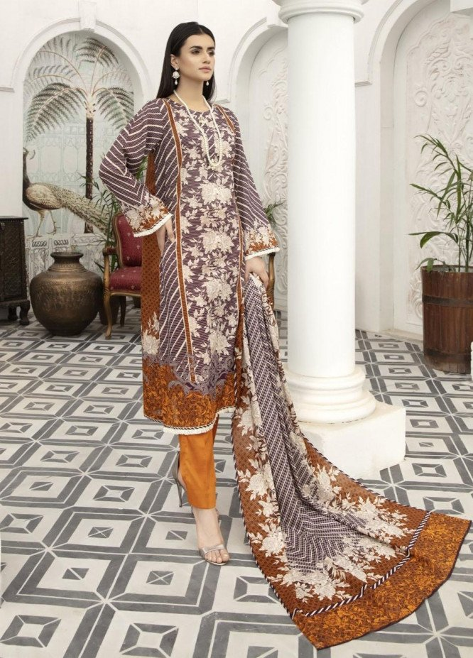 Jhalak By Ittehad Textiles Printed Lawn Suits Unstitched 3 Piece ITD21JL 21229B - Summer Collection