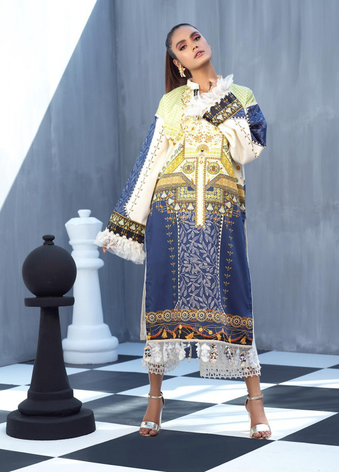 Ittehad Textiles Printed Cotton Satin Unstitched Kurties IT20C DANDELION 14 - Spring / Summer Collection