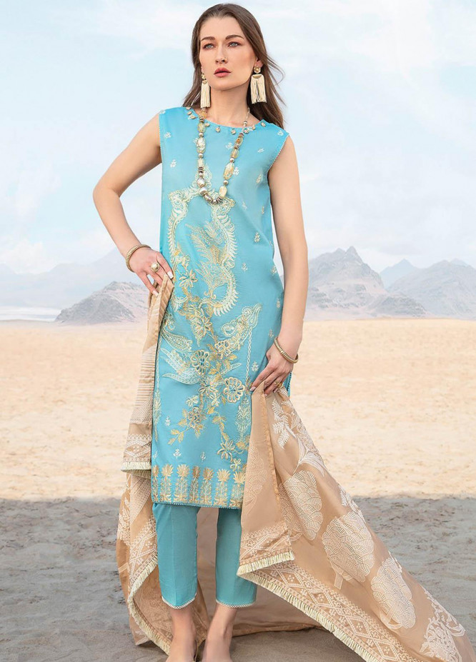 Ittehad Textiles Embroidered Lawn Suits Unstitched 3 Piece IT21PS PRE-OPULENCE - Premium Summer Collection