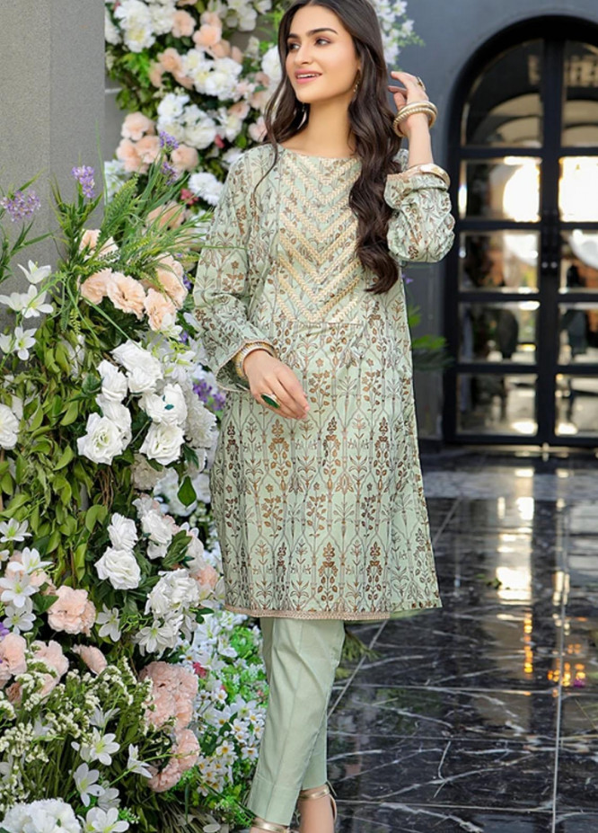 Ittehad Textiles Embroidered Lawn Stitched 2 Piece DL-SM21-76 L.Green