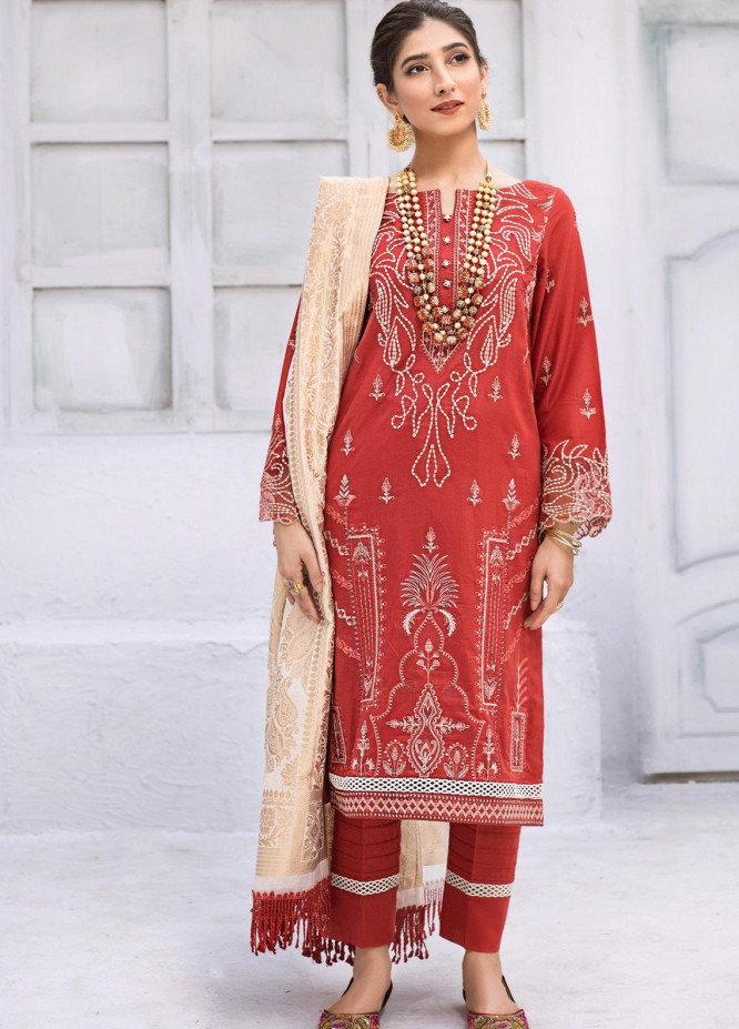 Iznik Embroidered Lawn Unstitched 3 Piece Suit IZ20FL 03 ZARD HEERA - Festive Collection
