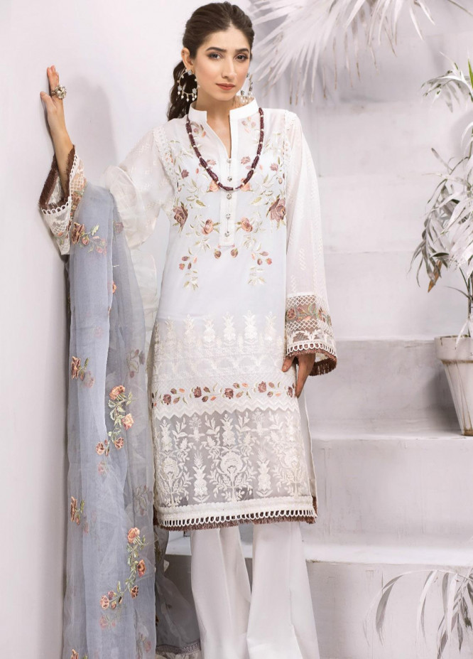 Iznik Embroidered Lawn Unstitched 3 Piece Suit IZ20FL 11 ARQAM - Festive Collection