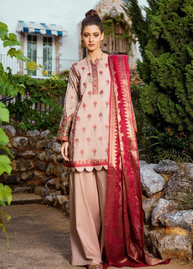 Iznik Embroidered Lawn Unstitched 3 Piece Suit IZ20L 2 - Luxury Collection