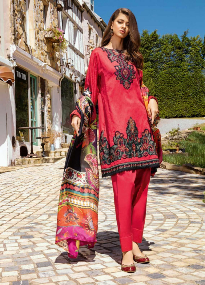 Iznik Embroidered Jacquard Unstitched 3 Piece Suit IZ20L 9 - Luxury Collection