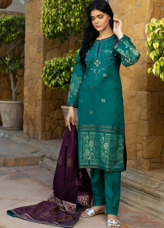 Jahan by AB Textiles Embroidered Lawn Suits Unstitched 3 Piece AB21TT 01 - Summer Collection