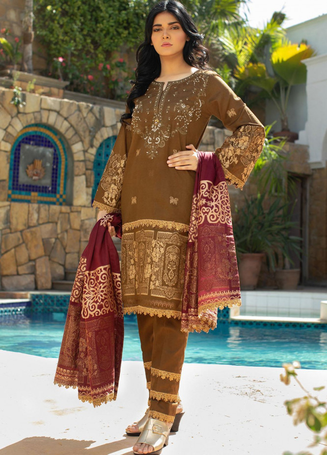 Jahan by AB Textiles Embroidered Lawn Suits Unstitched 3 Piece AB21TT 05 - Summer Collection