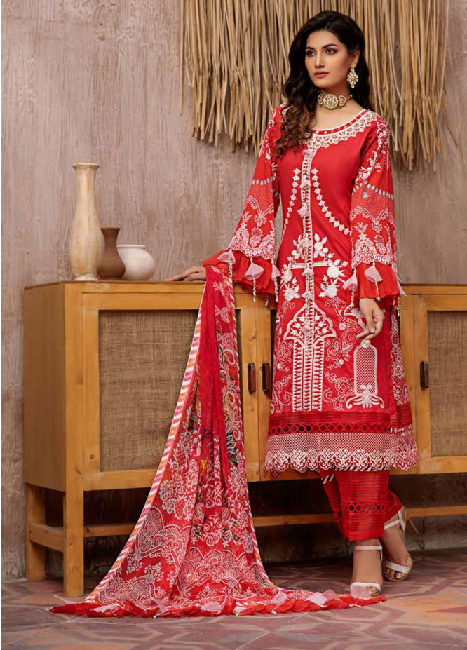 Jahanara Embroidered Lawn Suits Unstitched 3 Piece JN21L 03 - Summer Collection