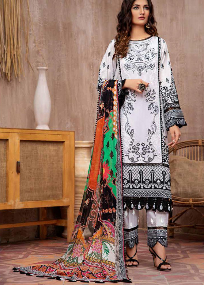 Jahanara Embroidered Lawn Suits Unstitched 3 Piece JN21L 05 - Summer Collection